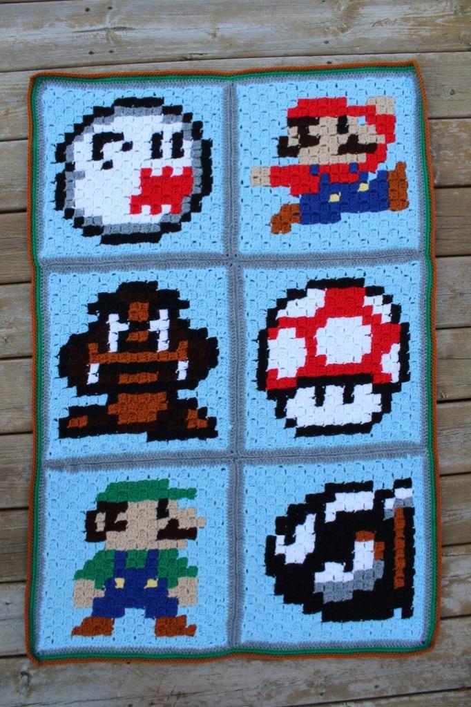 C2c Super Mario Blanket Doitmegself